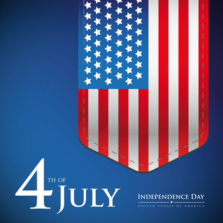 history month: Fourth of July - Independence day USA banner or poster