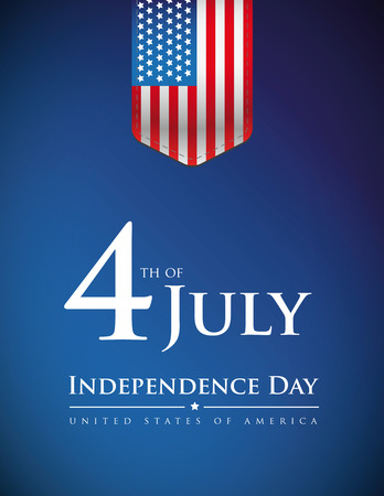 Fourth of July - Independence day USA banner or poster