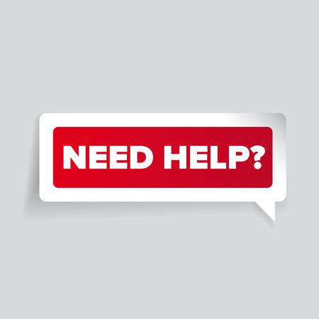 need: Need help? Vector label