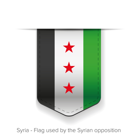 syrian: Syria Flag vector - Flag used by the Syrian opposition Illustration