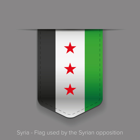 opposition: Syria Flag vector - Flag used by the Syrian opposition Illustration