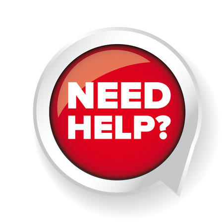 need: Need help? Vector button