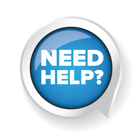questions: Need help? Vector button