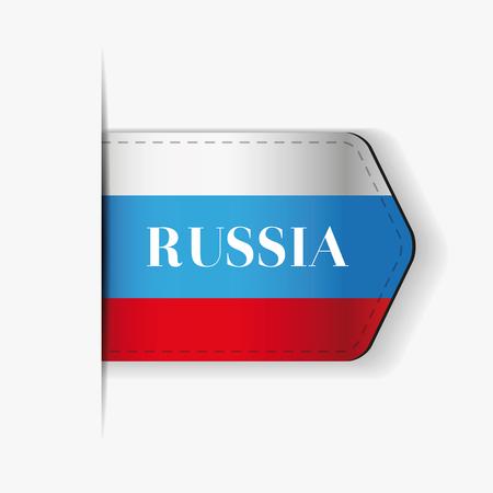 bandera rusia: Bandera de Rusia vectorial Cinta