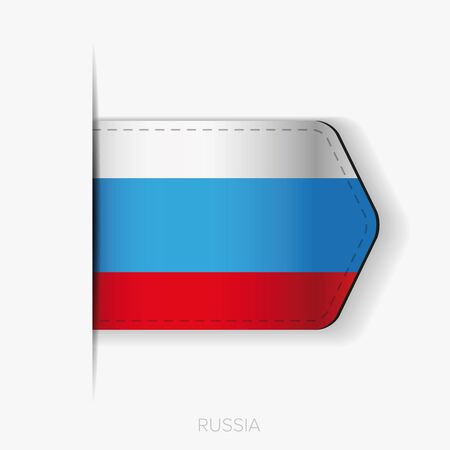russia flag: Russia flag vector ribbon
