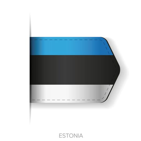 cotton velvet: Estonia flag vector ribbon Illustration