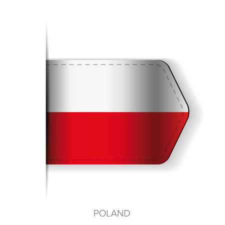 poland flag: Poland flag vector ribbon