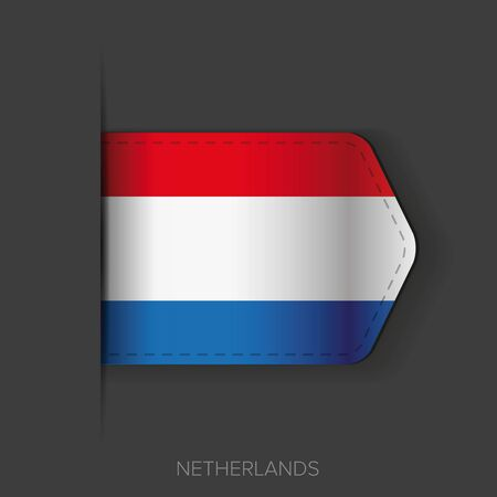 netherlands flag: Netherlands flag vector ribbon