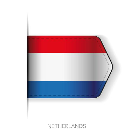constitutional: Netherlands flag vector ribbon