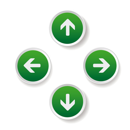 left right: Left Right Up Down arrows buttons Illustration