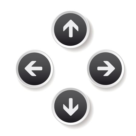 up and down: Left Right Up Down arrows buttons Illustration