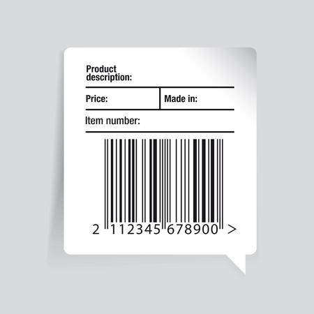 ean: Barcode label and sale vector set Illustration