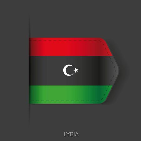 lybia: Lybia flag vector ribbon Illustration