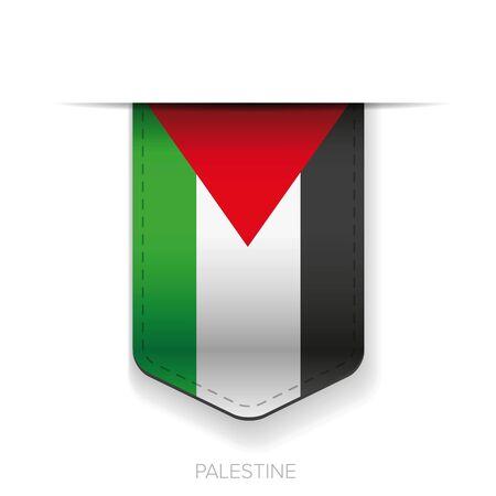 palestine: Palestine flag vector ribbon