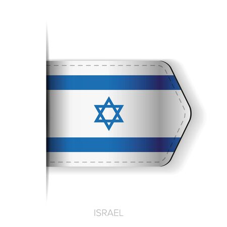 israel flag: Israel flag vector ribbon Illustration