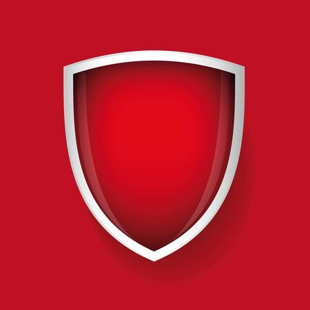iron defense: Vector shield red