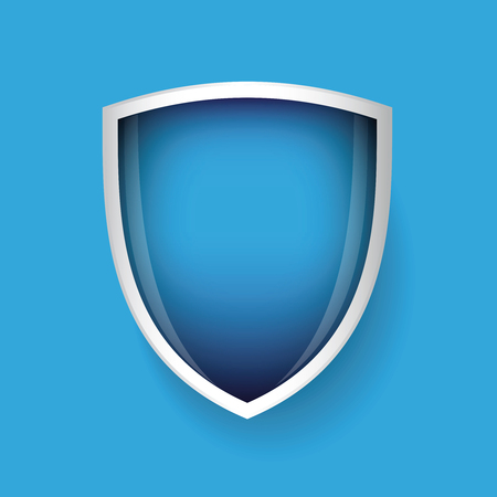 iron defense: Vector shield blue Illustration