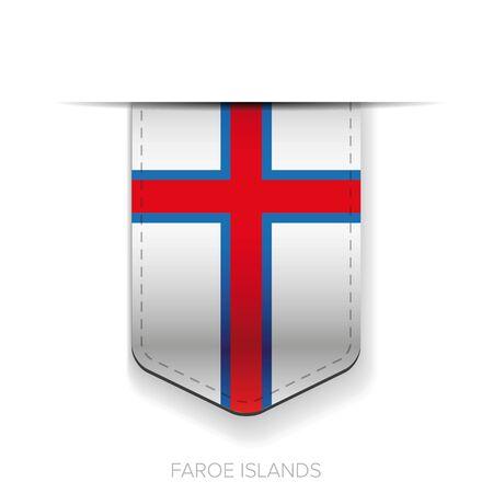 context: Faroe Islands flag vector ribbon