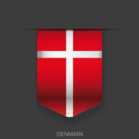denmark flag: Denmark flag vector ribbon