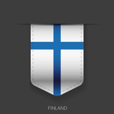 finland: Finland flag vector ribbon