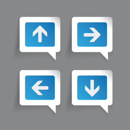 up down: Left Right Up Down arrows labels