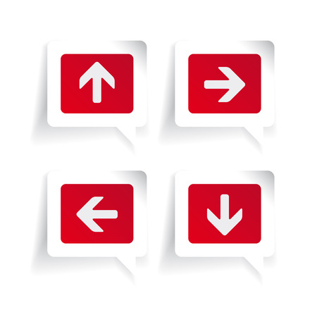 up and down: Left Right Up Down arrows labels
