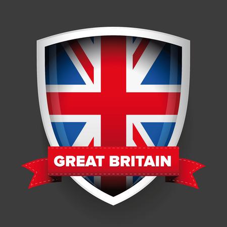 Escudo de armas de Gran Bretaña Foto de archivo - 48841644