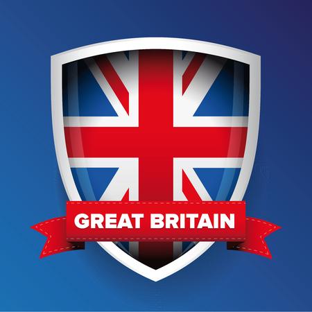 Escudo de armas de Gran Bretaña Foto de archivo - 48841645
