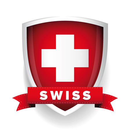 スイスの国章  イラスト・ベクター素材