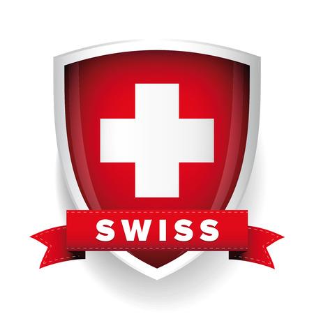 Escudo de armas de Suiza Foto de archivo - 48841646