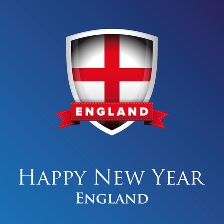 new england: Happy new year England Illustration