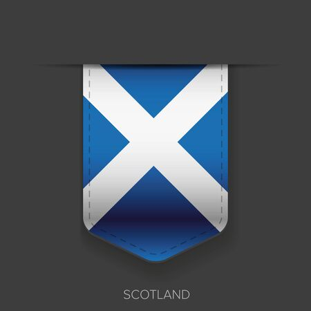 foreign country: Scotland flag ribbon Illustration