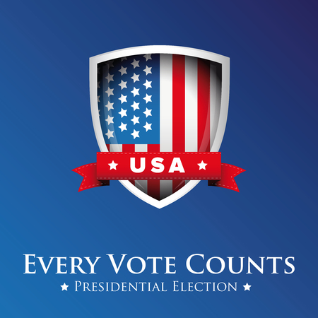 congress: Every vote counts USA banner or poster