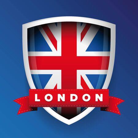 bandera de gran bretaña: Londres y Gran Bretaña escudo de la bandera