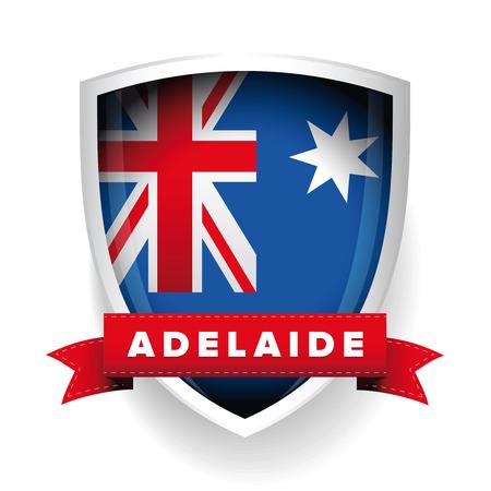 adelaide: Adelaide and Australia flag shield
