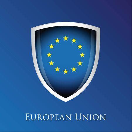 proportional: European Union shield vector