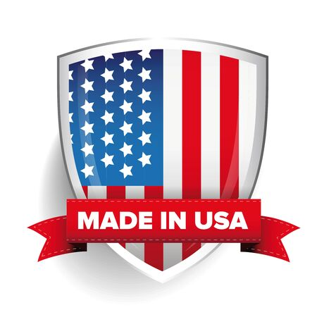 usa patriotic: Made in USA vector Illustration