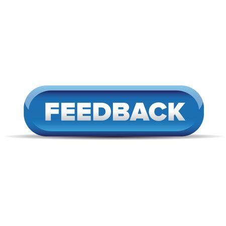 feedback: Feedback button blue vector Illustration