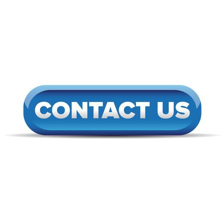 blue button: Contact us button blue vector