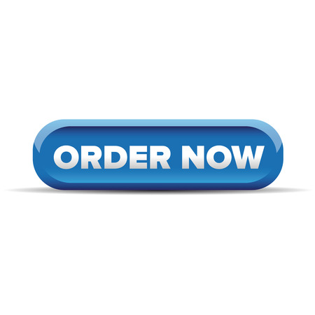in order: Order now button blue vector