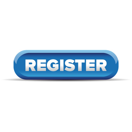 Register blue button vector