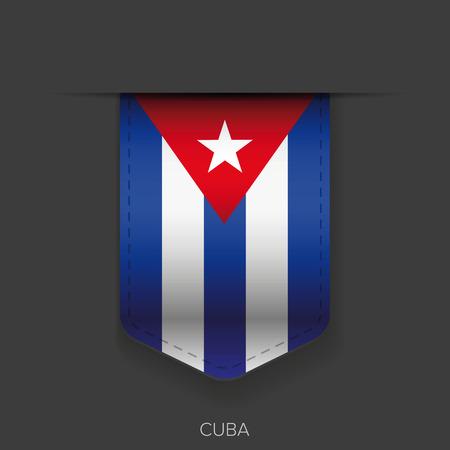cuba flag: Cuba flag ribbon vector