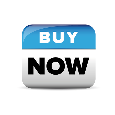 buy button: Buy now button blue vector Illustration