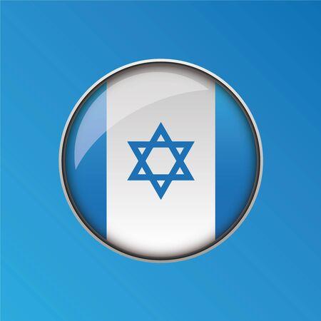 israel flag: Israel flag button vector