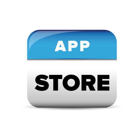 net bar: App store button blue vector Illustration