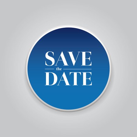 tearaway: Save the Date button vector