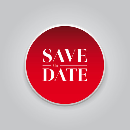 monumental: Save the Date button vector