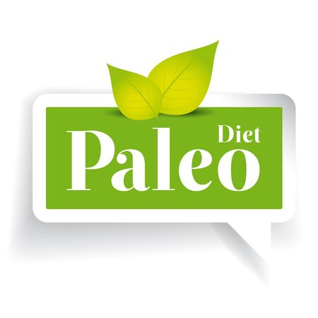 Paleo diet label vector