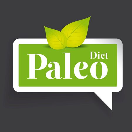 wholesome: Paleo diet label vector