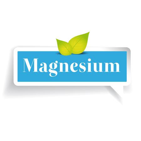 magnesium: Magnesium label vector